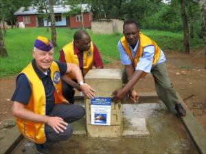 Vattenprojekt i Melela Tansania