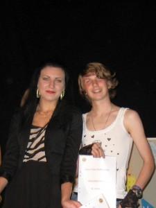 Anna Larsson och Tobias Nilsson från Hagalidskolan