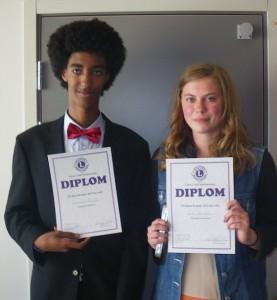 Jonathan Kunfu och Maria Hendar Hjärupslundsskolan