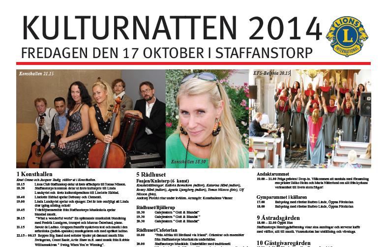 Program Kulturnatten 2014