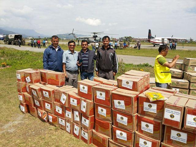 Lions Club hjälper de jordbävningsdrabbade i Nepal