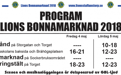 Program Lions Bonnamarknad 2018